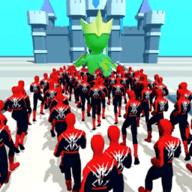 超级英雄人群推挤
