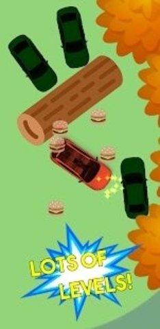 将汽车撞下高台