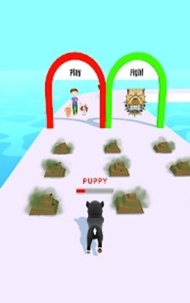 像狗一样的跑
